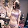 法式典雅刺繡花紋機能型內衣-紫