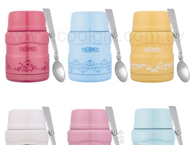 THERMOS 膳魔師不鏽鋼真空保溫食物罐(燜燒罐) 0.47L-歐蕾系列(SK3000)