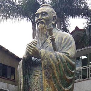 板橋國中孔子像塗裝